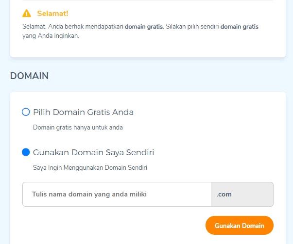 domain gratis untuk membuat website