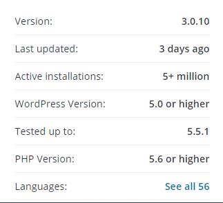 informasi plugin wordpress