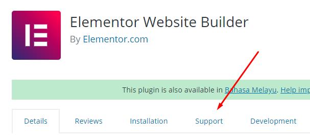 support plugin wordpress