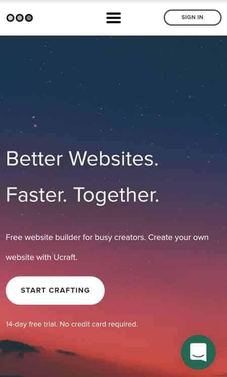 cara membuat landing page dengan ucraft