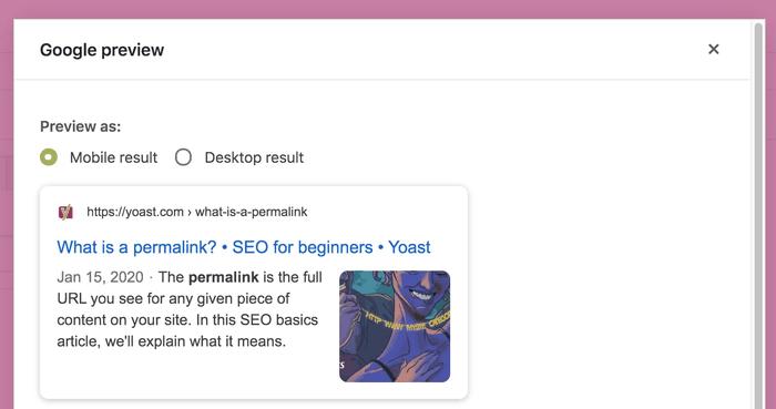 cara optimasi judul dengan preview yoast