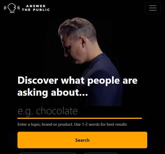 cara riset kata kunci dengan answer the public