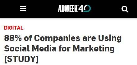 strategi pemasaran : 80% perusahaan menggunakan social media marketing