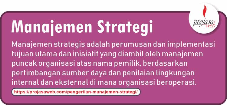 pengertian manajemen strategi menurut wikipedia