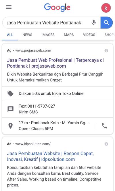 pengertian iklan contoh search engine marketing