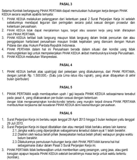 contoh kontrak kerja freelance halaman 2