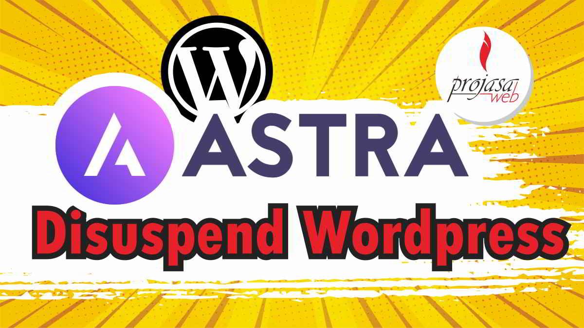 astra theme disuspend wordpress