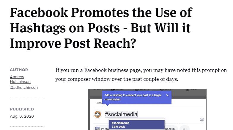 fitur hashtag baru facebook berita