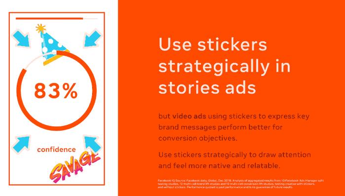 optimasi facebook ads dengan stiker pada video