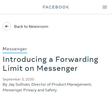 pembatasan pesan messanger