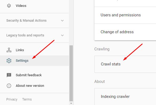 crawl report google search console