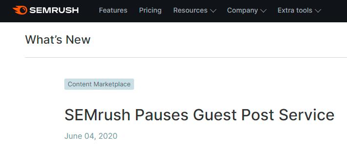 jasa guest posting semrush ditangguhkan