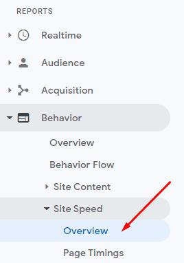 response time pada Google Analytics