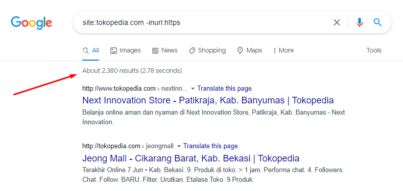 google search operators masalah https