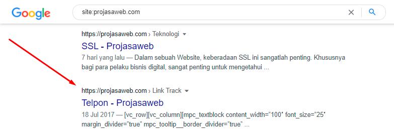 kesalahan indexing