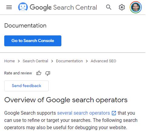 panduan Google search operators