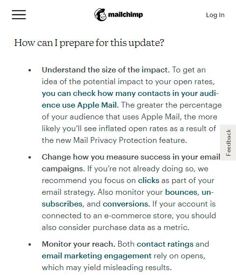 apple mail privacy protection menurut mailchimp